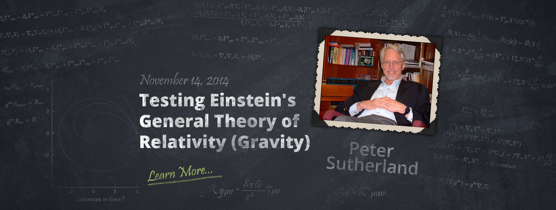 Testing Einstein's General Theory of Relativity (Gravity) with Peter Sutherland.