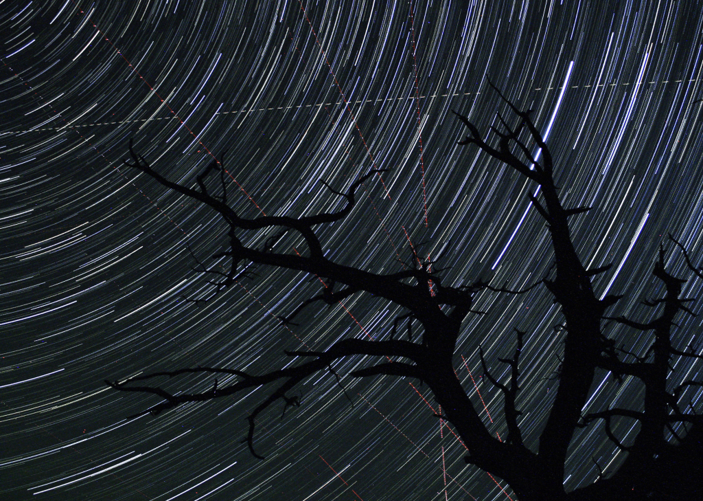 Star Trails and Flight Paths, David Tym