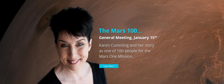 Karen Cumming, Mars One Mission