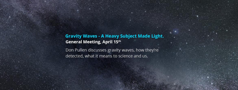 April 15 2016, General Meeting