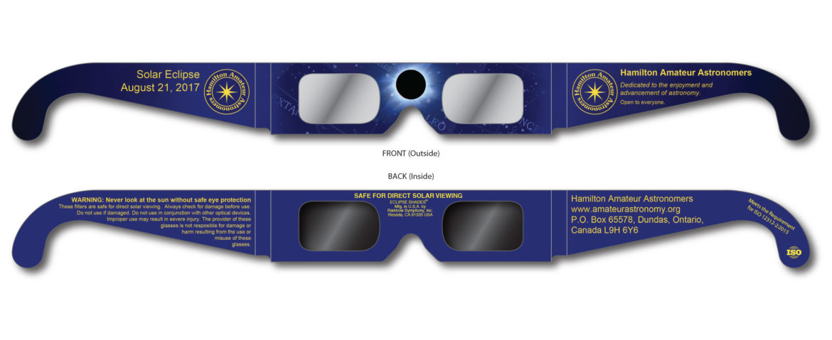 HAA 2017 Total Solar Eclipse Glasses